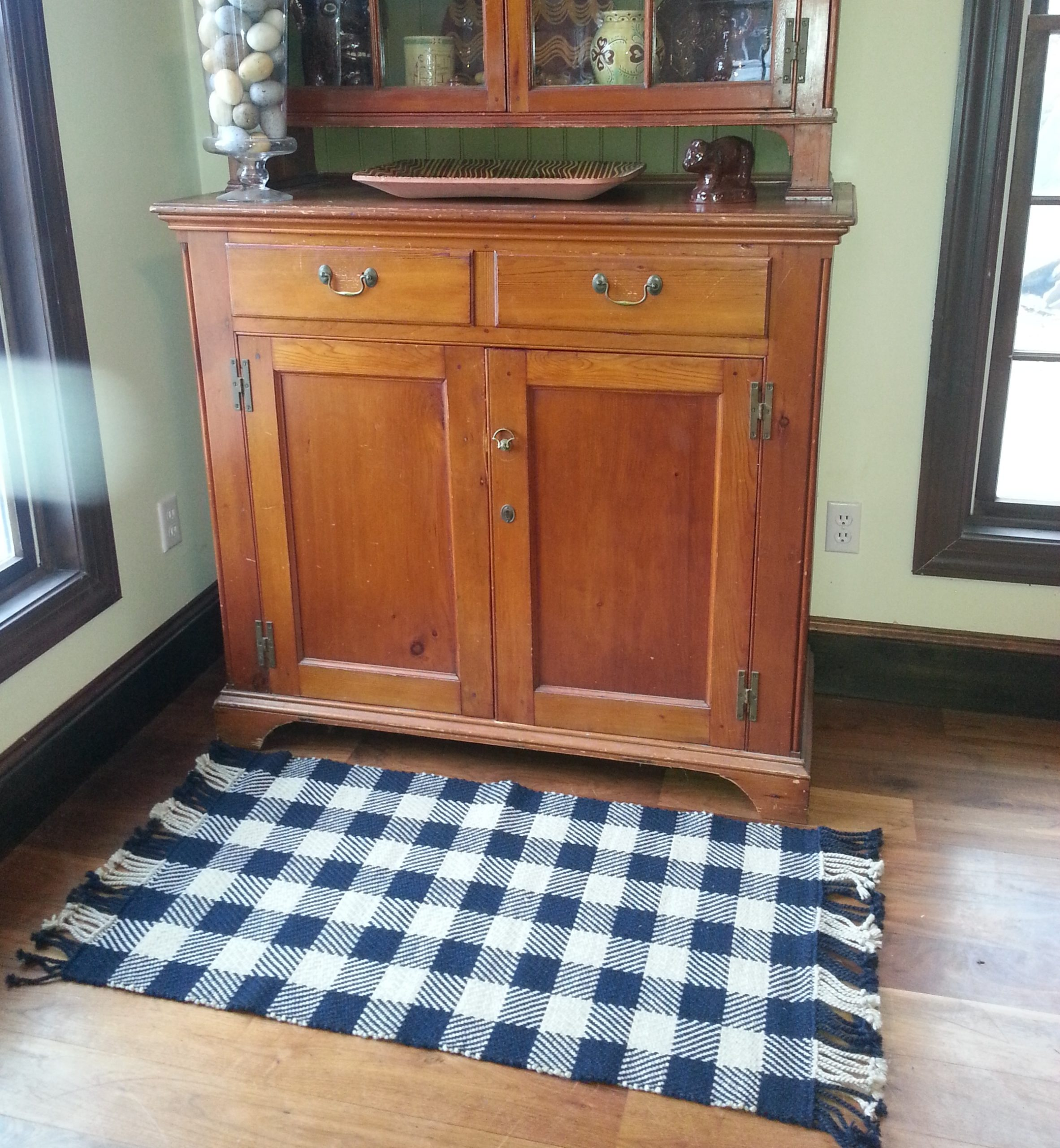 Checked Wool Rugs - Red Stone Glen
